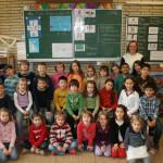 Klassenfoto 2a, Klassenlehrerin: Sandra Gegenwart