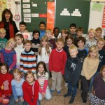 Klassenfoto 2b, Klassenlehrerin: Christiane Albers